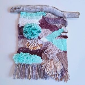 Handmade textured ocean tidepool wall hanging